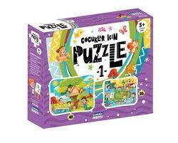 Çocuklar İçin Puzzle - 1 (Kutulu)