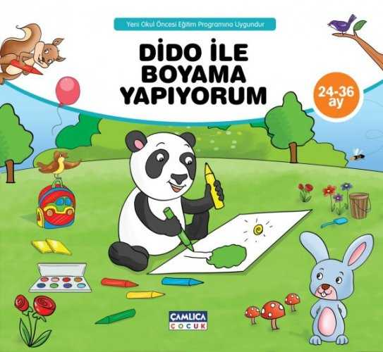 Dido Ile Boyama Yapıyorum Boyama Kitabı Okul öncesi çamlica çocuk