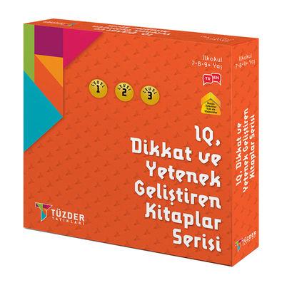 IQ, Dikkat ve Yetenek Geliştiren Kitaplar (İlkokul) Serisi 9'lu Set - Draw, Cube, Find, Solve, Mind, Crossword, Coordinate, Matrix, Algorithm