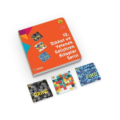 IQ, Dikkat ve Yetenek Geliştiren Kitaplar (İlkokul) Serisi Level 1 - Draw, Cube, Find