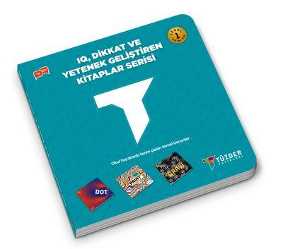IQ, Dikkat ve Yetenek Geliştiren Kitaplar Serisi Level 1 (Okul Öncesi) - Dot,Paınt,Draw