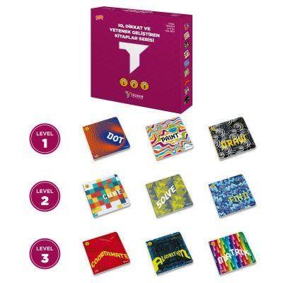 IQ, Dikkat ve Yetenek Geliştiren Kitaplar Serisi 9' lu Set (Dot, Paint, Draw, Cube, Solve, Find, Coordinate, Matrix, Algorithm)