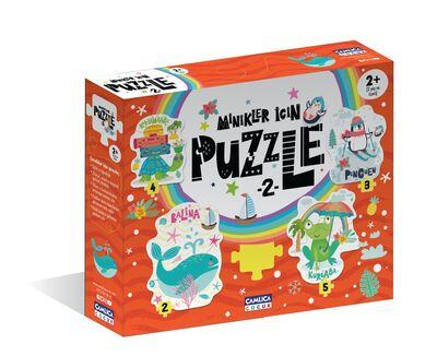 Minikler İçin Puzzle - 2 (Kutulu) Okul Öncesi
